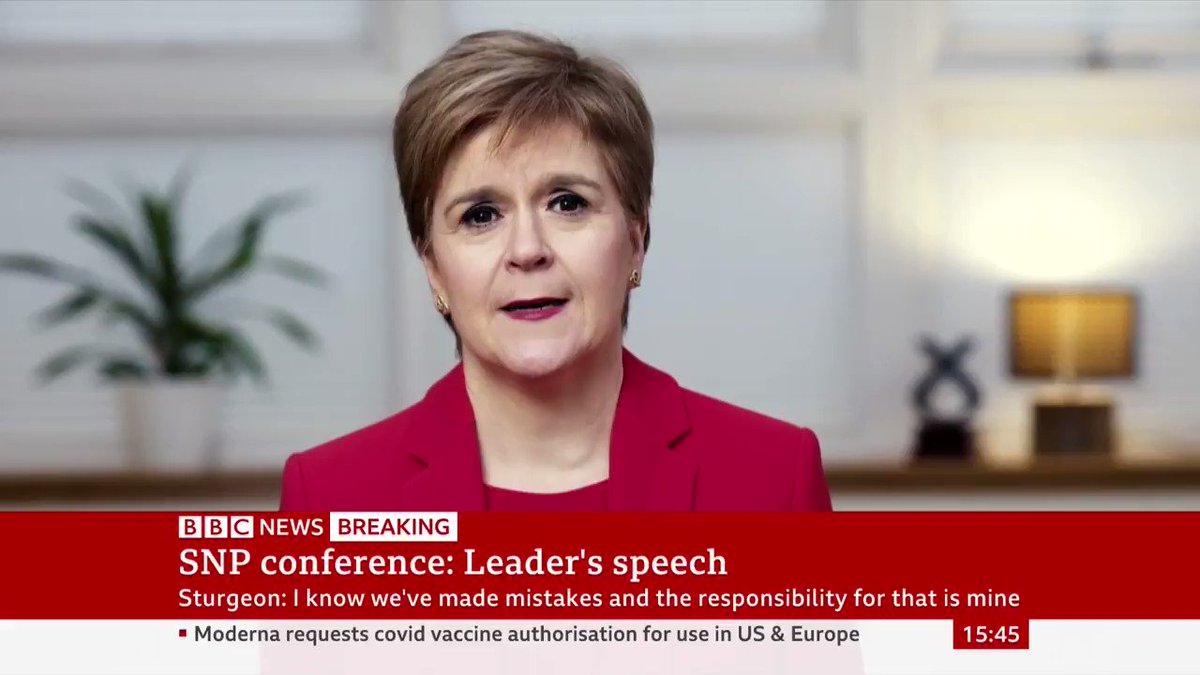 """Scottish First Minister Nicola Sturgeon announces £100m package to help those impacted by Covid, including a """"cash grant of £100 for every family with children in receipt of free school meals,"""" to be paid before Christmas"""
