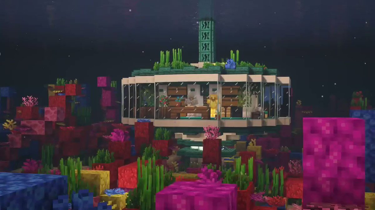 Take your building skills to new depths with @xGoldrobin's Underwater Base tutorial 🌊 🐠 ▶️