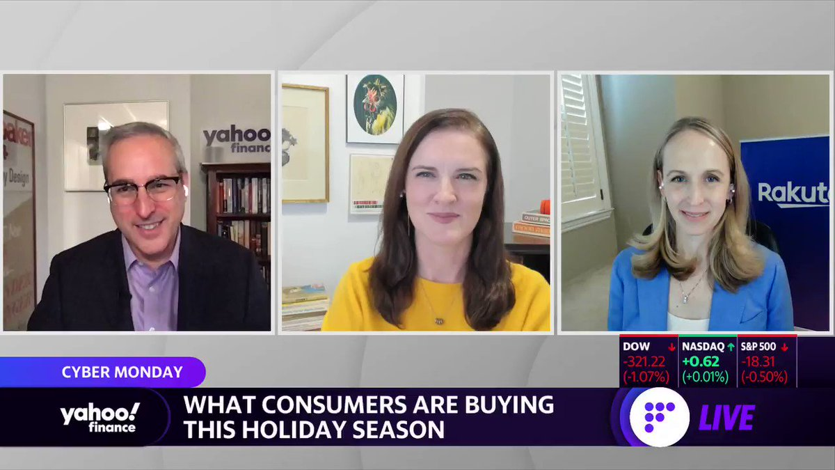 ".@Rakuten President Kristen Gall on online shopping and retail trends for Cyber Monday: ""People are still buying their gifts online... and then it's still our day-to-day necessities are being bought online also."" Full interview:"