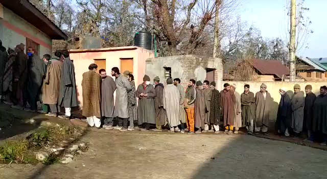 #Kashmir celebrates festival of democracy, #Kashmiris come out in great numbers early morning to vote. Brisk voting inspite of terror threats, democracy prevails over gun culture and separatism. The real J&K that secessionists didn't want you to see.  @ianuragthakur