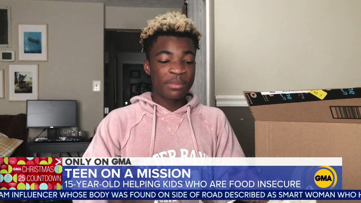 We're honoring 15-year-old Michael Platt this #GivingTuesday. The teen is on a mission to help kids who are food insecure.