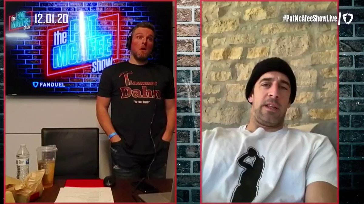"""""""I don't think I'm done... By any stretch of the imagination even though some people may have thought so in the offseason"""" ~ @AaronRodgers12 #PatMcAfeeShowLIVE"""