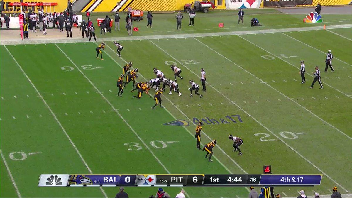 Hoje é Quarte-Feira, está tendo NFL, e este jogo ESTA FORA DE CONTROLE! Fumble sofrido por Ray-Ray McCloud após o Punt! Bola dos @Ravens! #NFLBrasil #NFLnaESPN #BALvsPIT