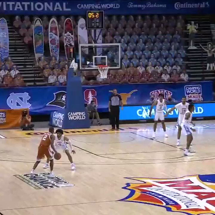 🚨 DOWN GOES UNC 🚨  Matt Coleman with a step-back dagger to get the W for the Longhorns 🤘 https://t.co/dw1HB6zq4T