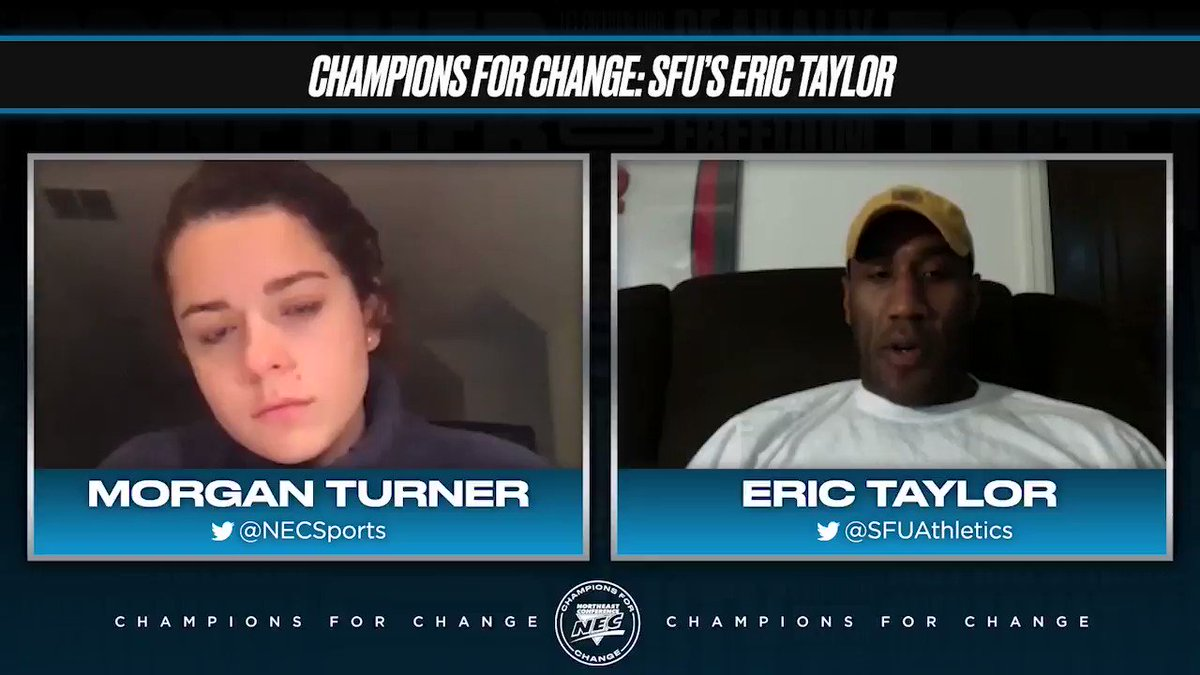 .@SFUAthletics' Eric Taylor launched #Hike4Humanity in Loretto ⚡️🤝  The long-time Red Flash leader detailed the program during a #Champs4Change edition of the NEC Overtime! Pod 🗣️🎙️  @SpotifyPodcasts 🎧