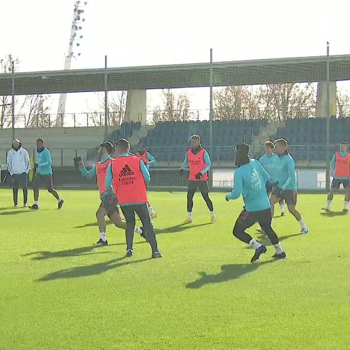 🏃♂️⚙️ ¡Con la mente puesta en el encuentro 🆚 @SevillaFC! #HalaMadrid