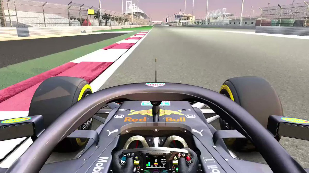 Full speed ahead ⚠️ Hold on for a virtual hot lap of the Bahrain 'outer track'  🎮 #SakhirGP 🇧🇭 #F1