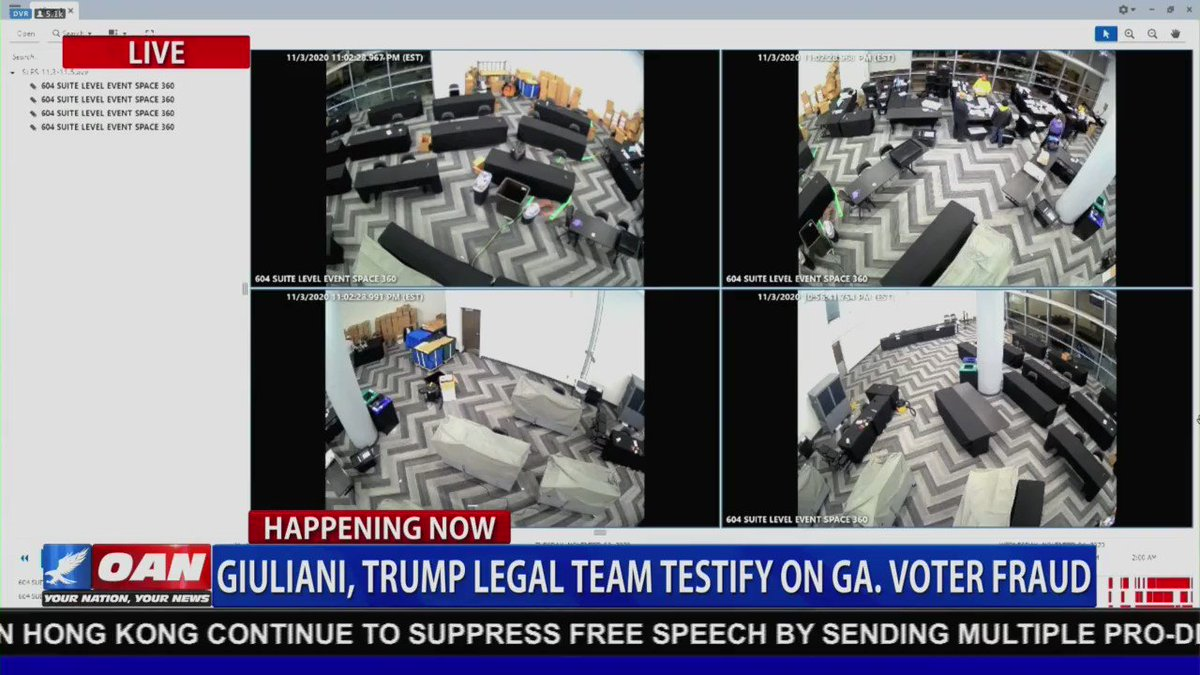 WATCH: Video footage from Georgia shows suitcases filled with ballots pulled from under a table AFTER supervisors told poll workers to leave room and 4 people stayed behind to keep counting votes