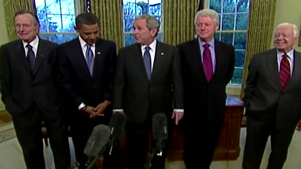 Former U.S. Presidents Barack Obama, George W. Bush and Bill Clinton said they were willing to be vaccinated against the novel coronavirus on television to ease any public skepticism over the safety of new vaccines