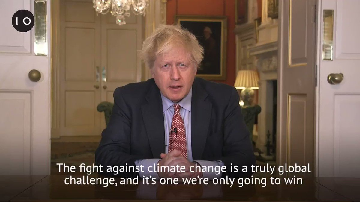 We've set a new target to cut emissions by at least 68% by 2030.  The fight against climate change is a global challenge and the UK is leading by example.   ➡️