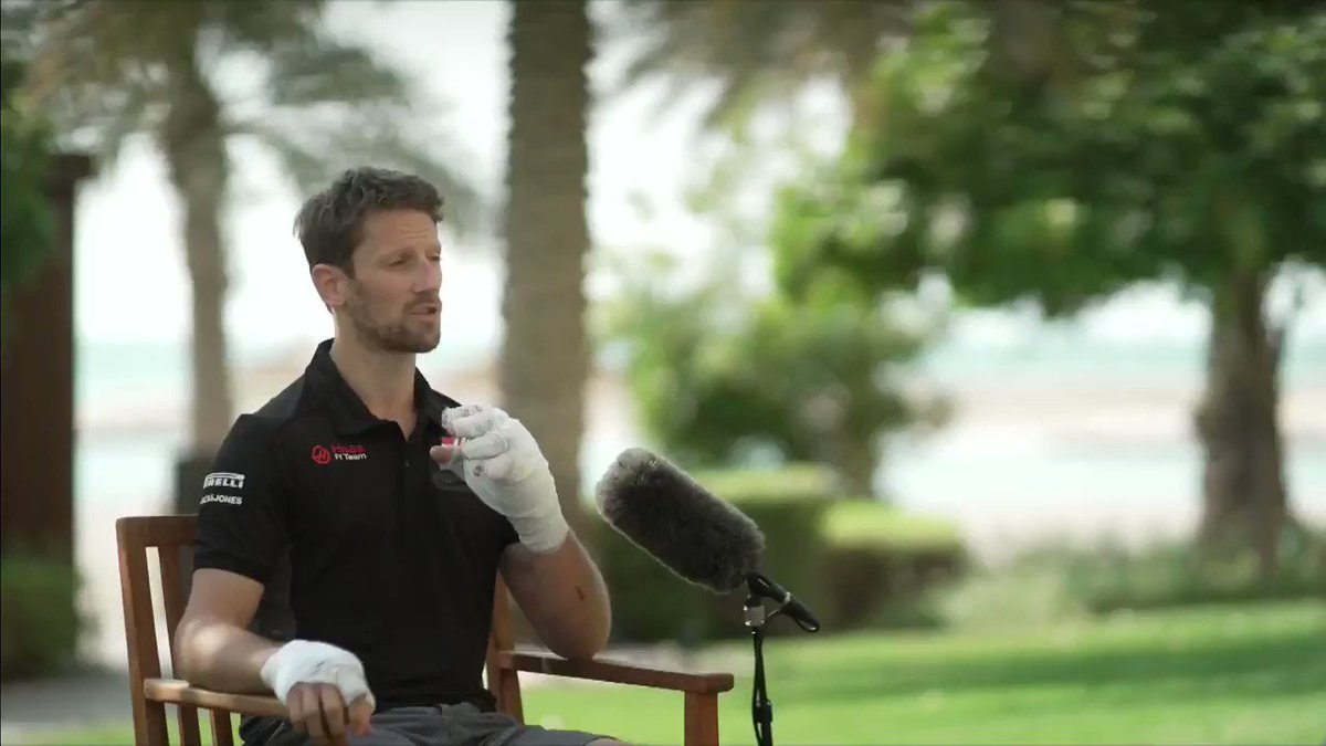 𝐑𝐨𝐦𝐚𝐢𝐧 𝐆𝐫𝐨𝐬𝐣𝐞𝐚𝐧: 𝐈𝐧 𝐡𝐢𝐬 𝐨𝐰𝐧 𝐰𝐨𝐫𝐝𝐬  @RGrosjean gives a clear and moving description of his accident, and how he managed to escape.  #SkyF1 | #F1 | #SakhirGP 🇧🇭