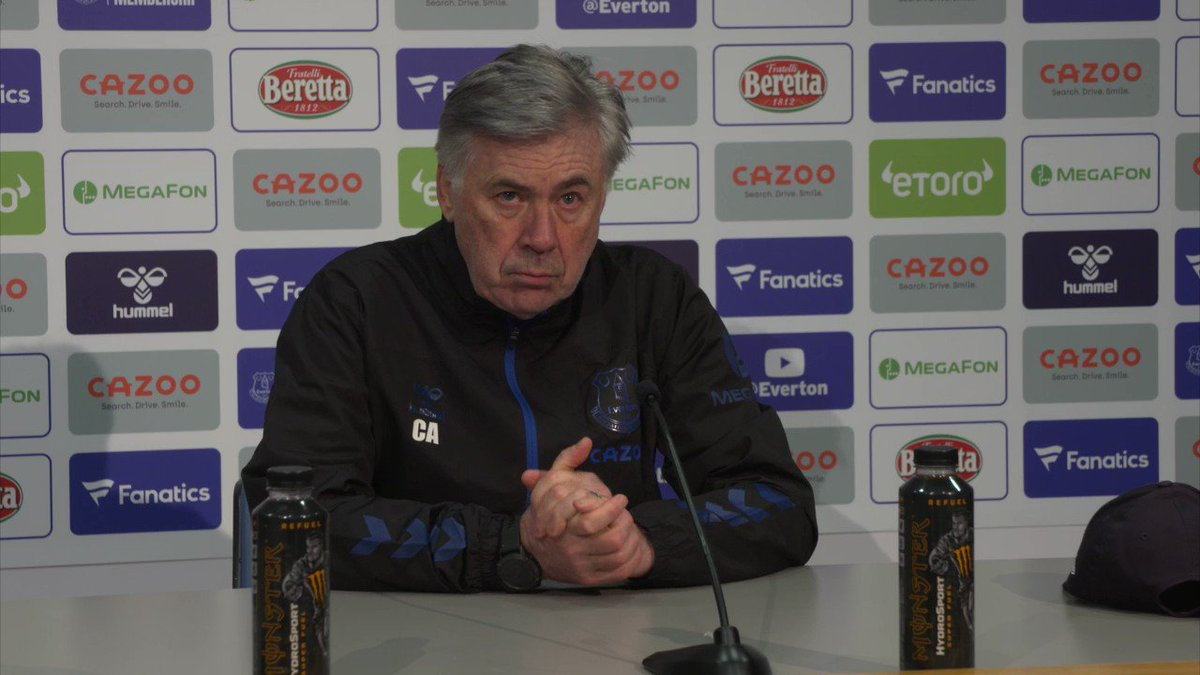 🤕 | Carlo confirms Seamus Coleman will miss #BUREVE, along with Lucas Digne.  Watch live: