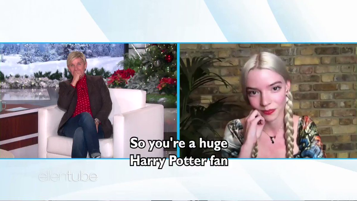 .@AnyaTaylorJoy lived out every Harry Potter Superfan's dream while shooting #TheQueensGambit.