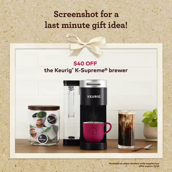 Keurig brewers make the perfect holiday gift...especially when you find a great deal you just can't pass up ☕ 🎁