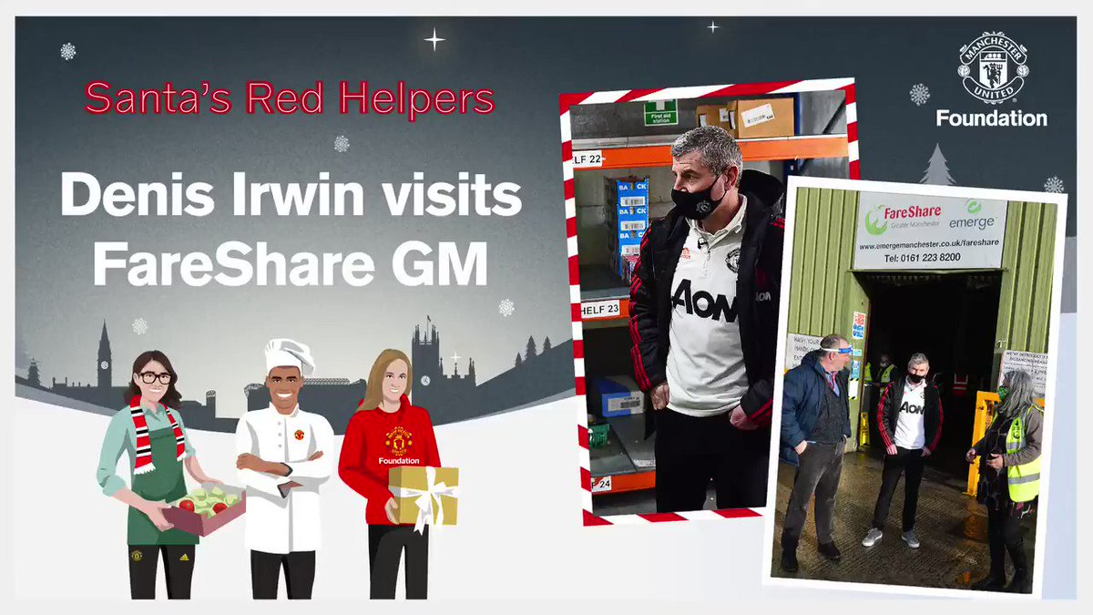 3️⃣3️⃣ tonnes of food 🥔 8️⃣0️⃣,0️⃣0️⃣0️⃣ meals 🥘 1️⃣ hope this Christmas ❤️  The Foundation and @ManUtd have partnered with @FareShareGtrM to support vulnerable families this Christmas 🎄   You can make a difference, too, by donating: https://t.co/3PE9gEY1e4  #SantasRedHelpers 🎅🏼 https://t.co/p96GkuBfQ6