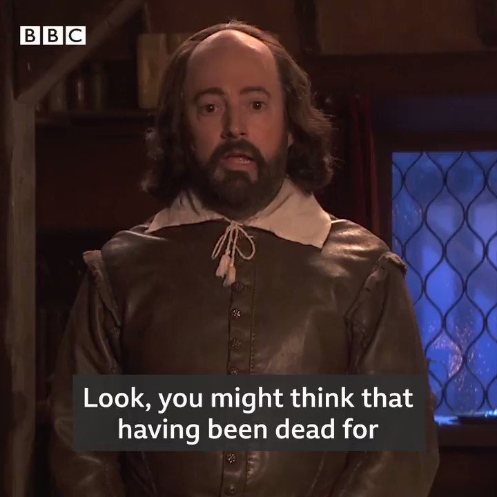 🎄 🧁 We've got a special Christmas message from Shakespeare himself, and he's not a happy Bard. Watch how he deals with his own lockdown in #UpstartCrow on Monday 21 December on @BBCTwo.
