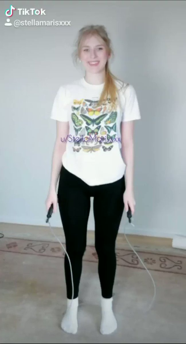 Naked TikTok - jumping my clothes off with a jump rope 😋
