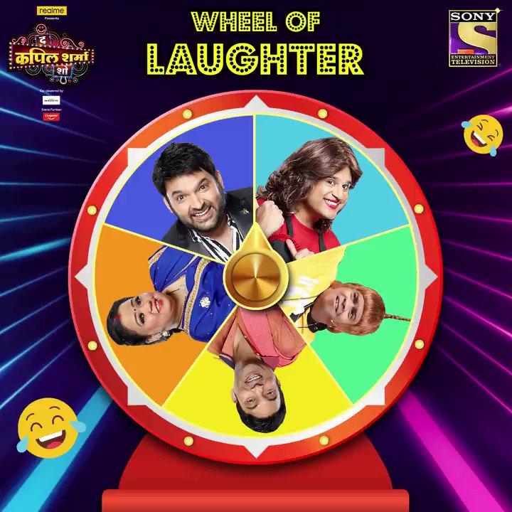Wheel of laughter mein dekhte hai ke iss baar kaun aayenge, jo hume khoob hasaenge. Dekhiye #TheKapilSharmaShow mein aaj raat 9:30 baje.@KapilSharmaK9 @kikusharda @Krushna_KAS  @sumona24 @banijayasia @haanjichandan @geetakapur @terencehere #GaneshAcharya