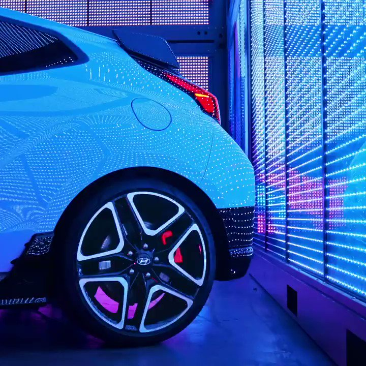 The 19-inch alloy wheels come standard. So does the hit of dopamine. #VelosterN  Learn more about the VELOSTER N:   Optional features shown.