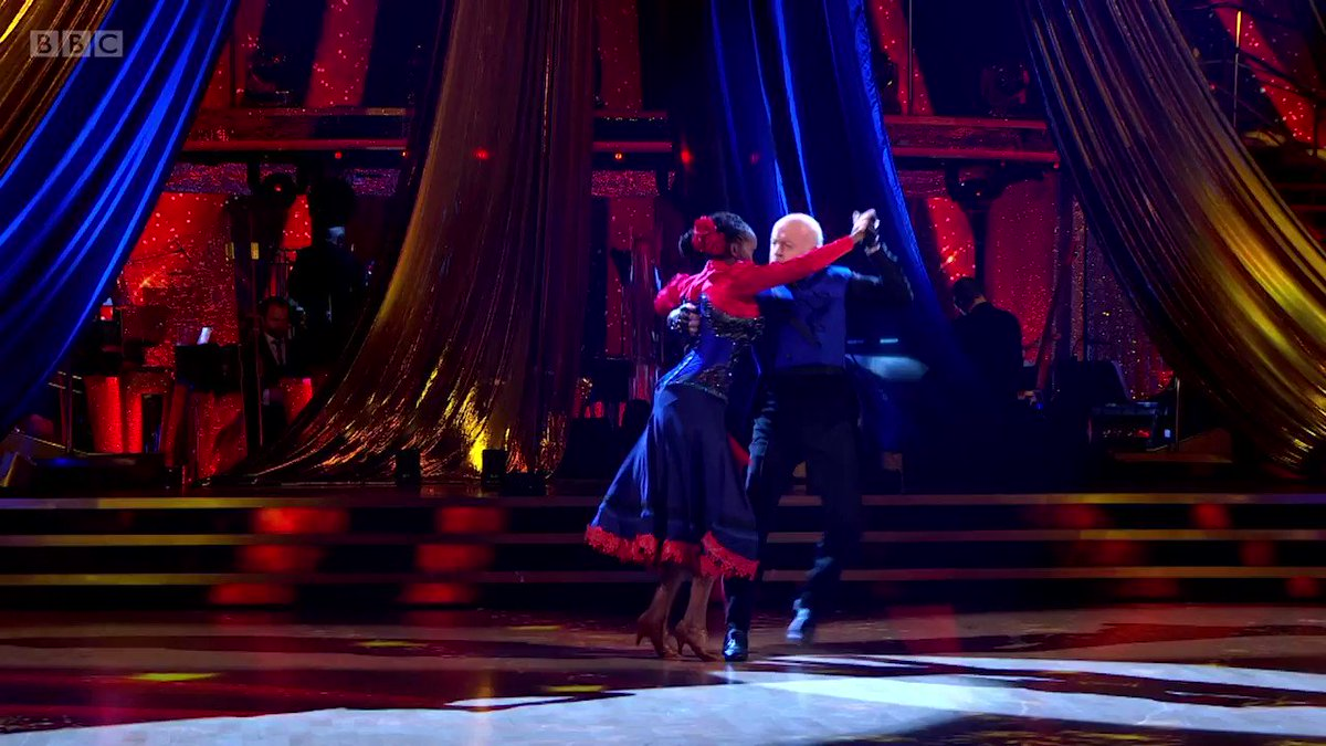 Fireworks, flying and an epic guitar solo. ⚡️😲 Bill and Oti delivered all the drama an iconic #Strictly Showdance needs.   @BillBailey @OtiMabuse #StrictlyFinal