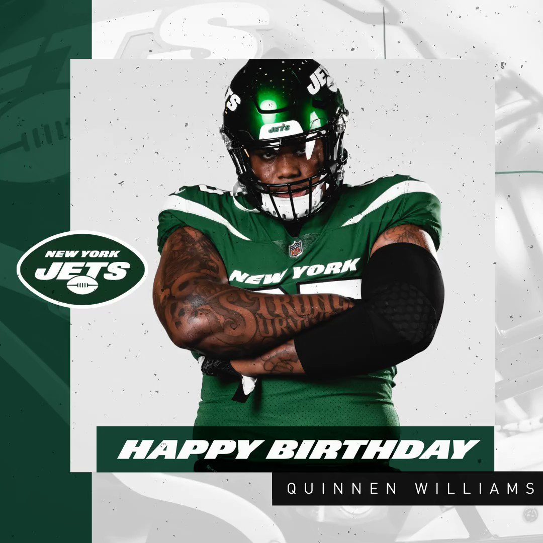 Replying to @nyjets: HBD, beast 💪  @QuinnenWilliams   #TakeFlight