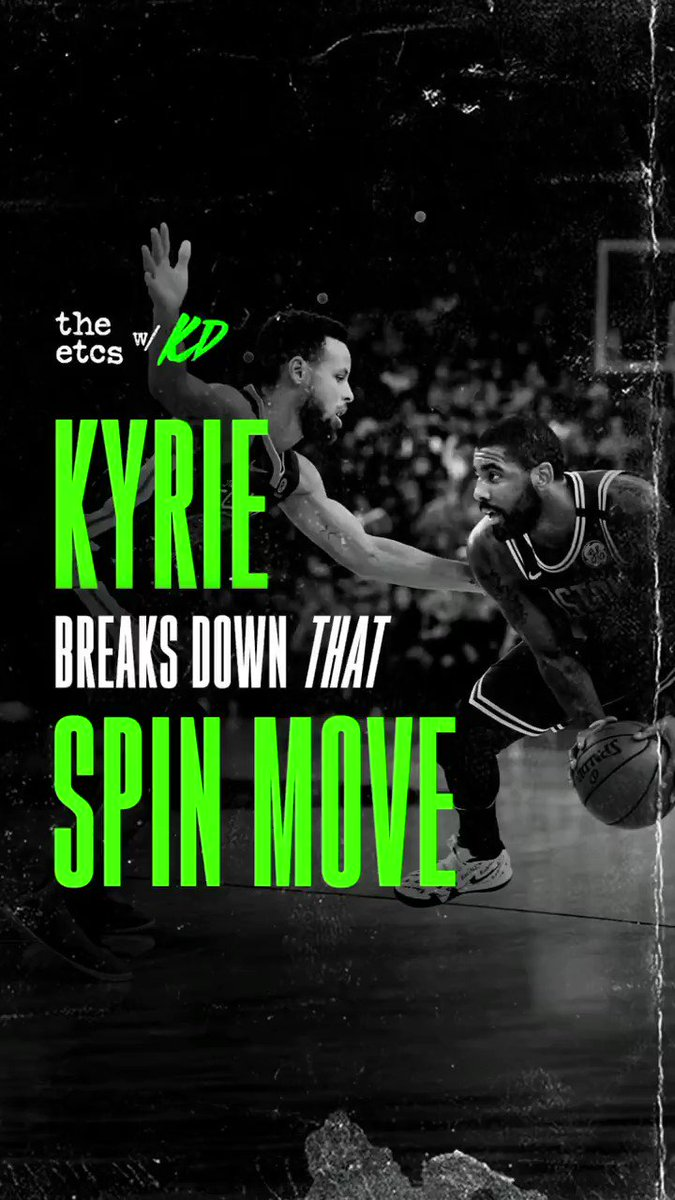 With @StephenCurry30 and @KyrieIrving facing off tomorrow to start the season, let's take a look back at THAT spin move Ky hit Steph with back in 2018.  And yes, Kyrie does practice this move 😳  Listen to more on #TheETCs @boardroompods: