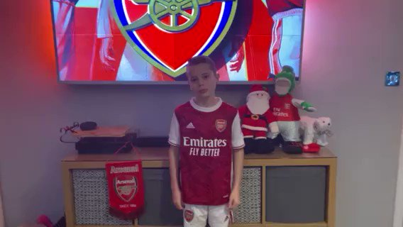 Our #ARSCHE virtual mascot is Theo!   'Let's show them who the best team is in London!' ⚽️   @Arsenal |  🔴
