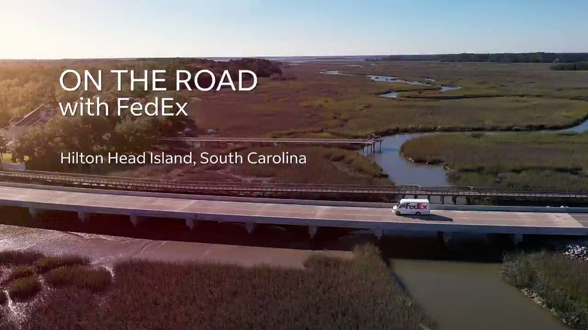 Join team member, Eddie Days, on the road in his hometown of Hilton Head Island, SC. Not only does Eddie have to manage the surge of packages during the pandemic and holidays, but he also needs to avoid the nearby alligators! 🐊  Check out the full video: https://t.co/hXKiUD4AGN https://t.co/C1uohll7Cq
