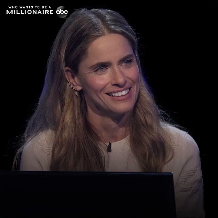 Amanda Peet is passionate about her charity, @BigSundayorg! Watch her on #WhoWantsToBeAMillionaire Jan 3 on ABC.