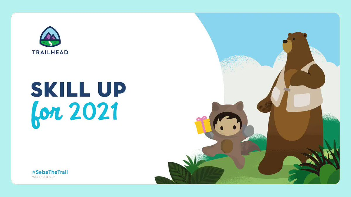 🎉It's a new year, with new goals, more trails, and even more #TrailheadQuest fun! Go ahead...#SeizeTheTrail.  Learn how to enter for a chance to win*   🎁1 of 150 Trailblazer hoodies  or  🎁1 of 200/$100 USD gift cards  *Official rules apply ➡️