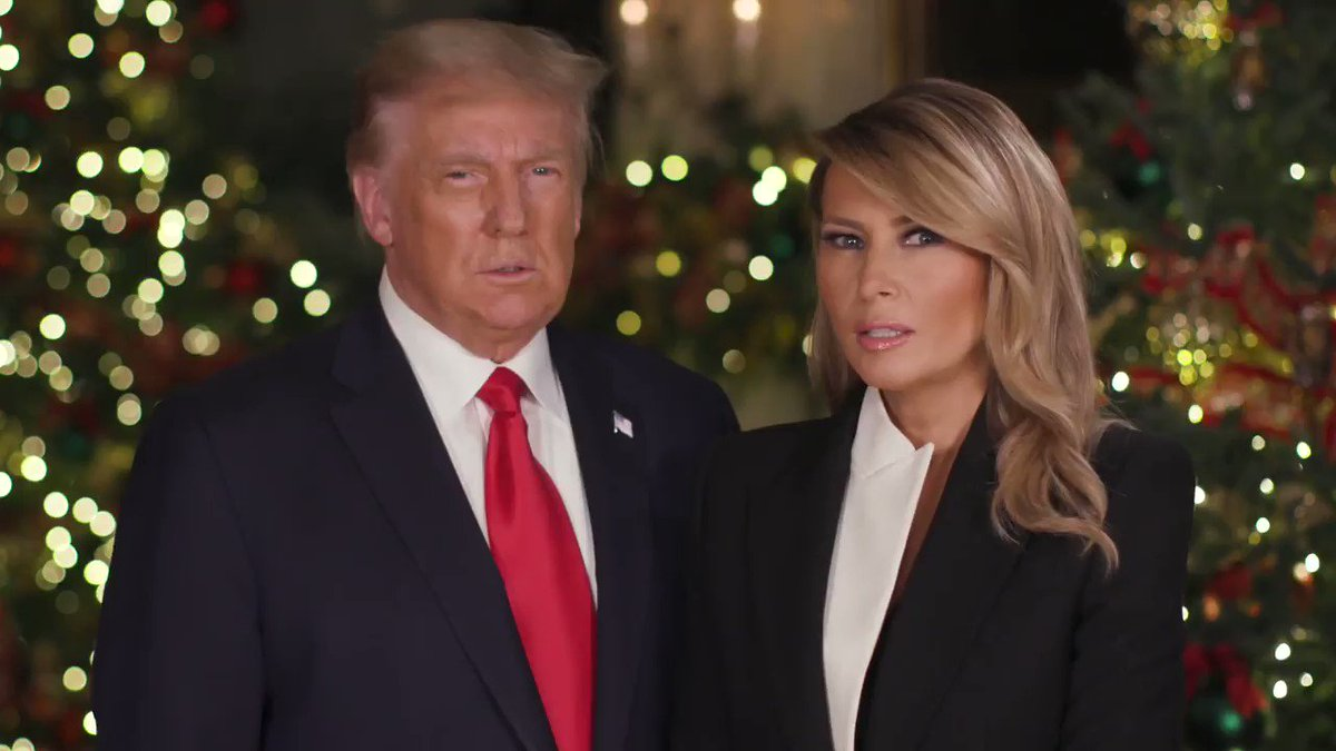 .@POTUS & I send our warmest wishes to all as we celebrate #Christmas. May the love we share with our family & friends fill our hearts with peace & joy!