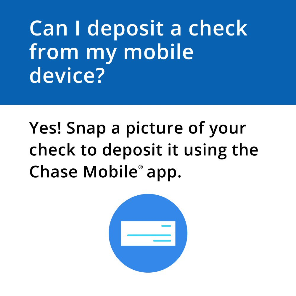 These days, everyday tasks feel a little more…complicated. Like depositing a check. Helpful tip: Deposit checks virtually anytime, anywhere in the Chase Mobile® app. See how and learn more here: