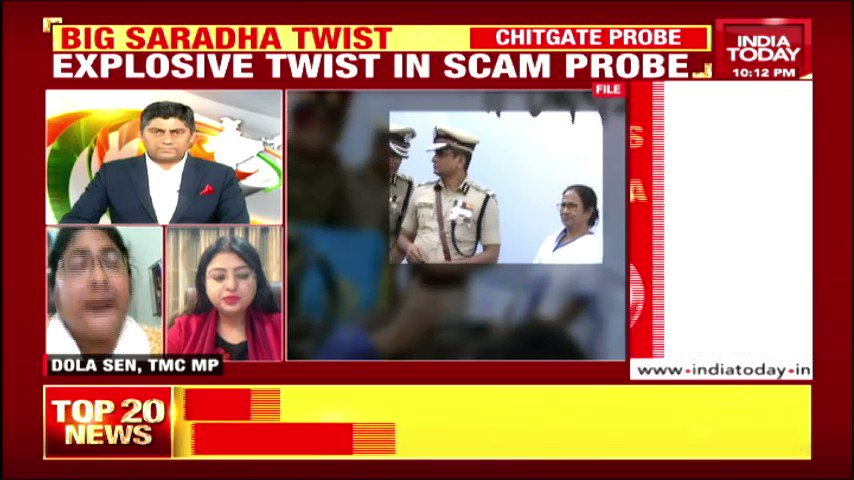India Today Deputy Editor @KDscribe explains the main points of #SaradhaScam; TMC MP Dola Sen and @impriyankabjp get into an argument. #IndiaFirst with @Gauravcsawant