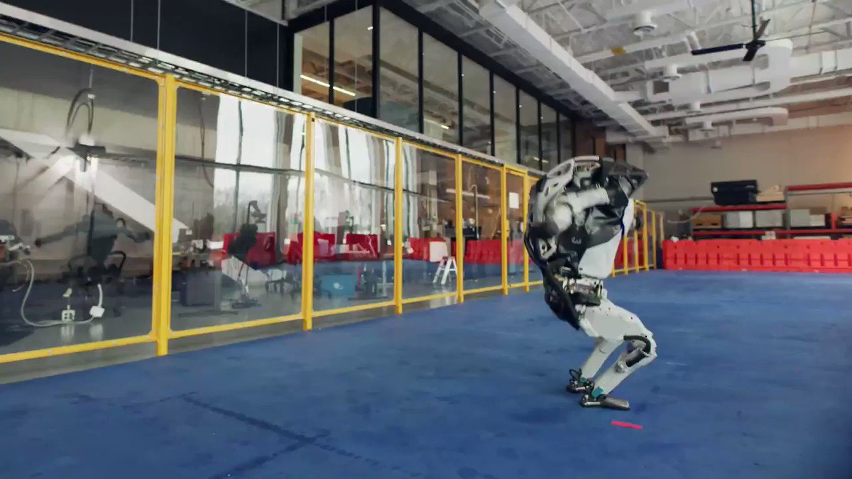 Sam Sheffer - this is somehow both super creepy and mesmerizingly cool  it doesn't look real  these robots are better dancers than i am  honestly, nice work @bostondynamics  full video: