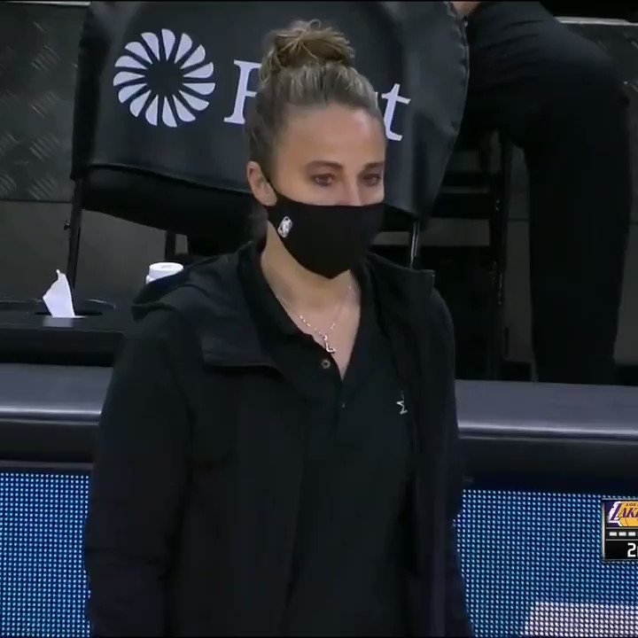Spurs assistant Becky Hammon filled in for an ejected Gregg Popovich.   She's believed to be the first woman to act as head coach during an NBA regular-season game.