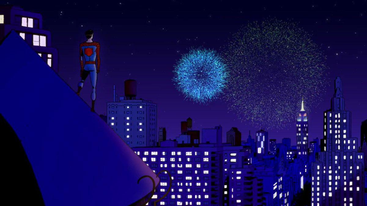 Replying to @Marvel: New year swinging in. 🕸️ #HappyNewYear