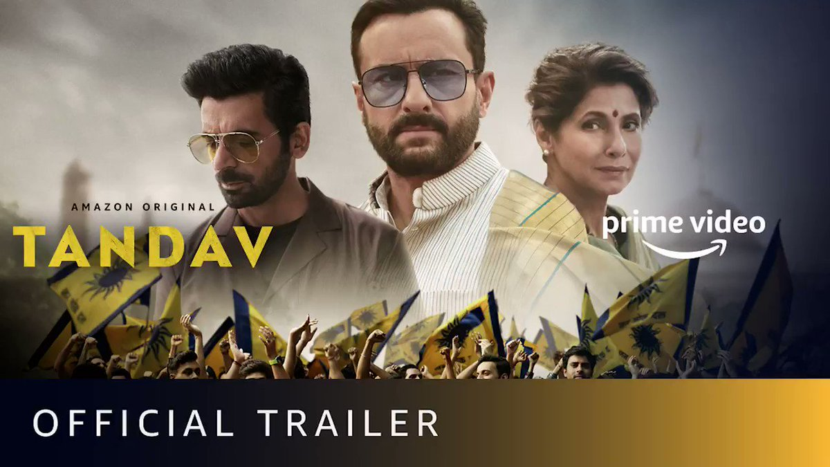 Tandav Official Trailer.  #TandavOnPrime releasing on Jan 15