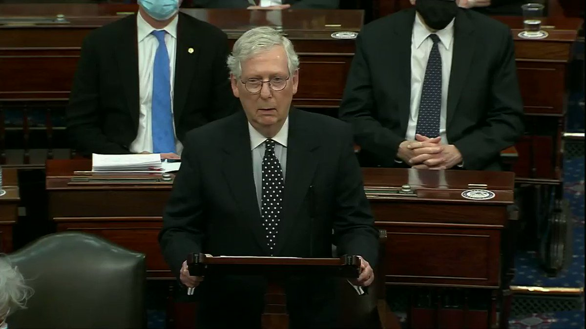 The United States and the Senate will not be intimidated.   We are back at our posts. We will discharge our duty under the Constitution for our nation.  And we are going to do it tonight.