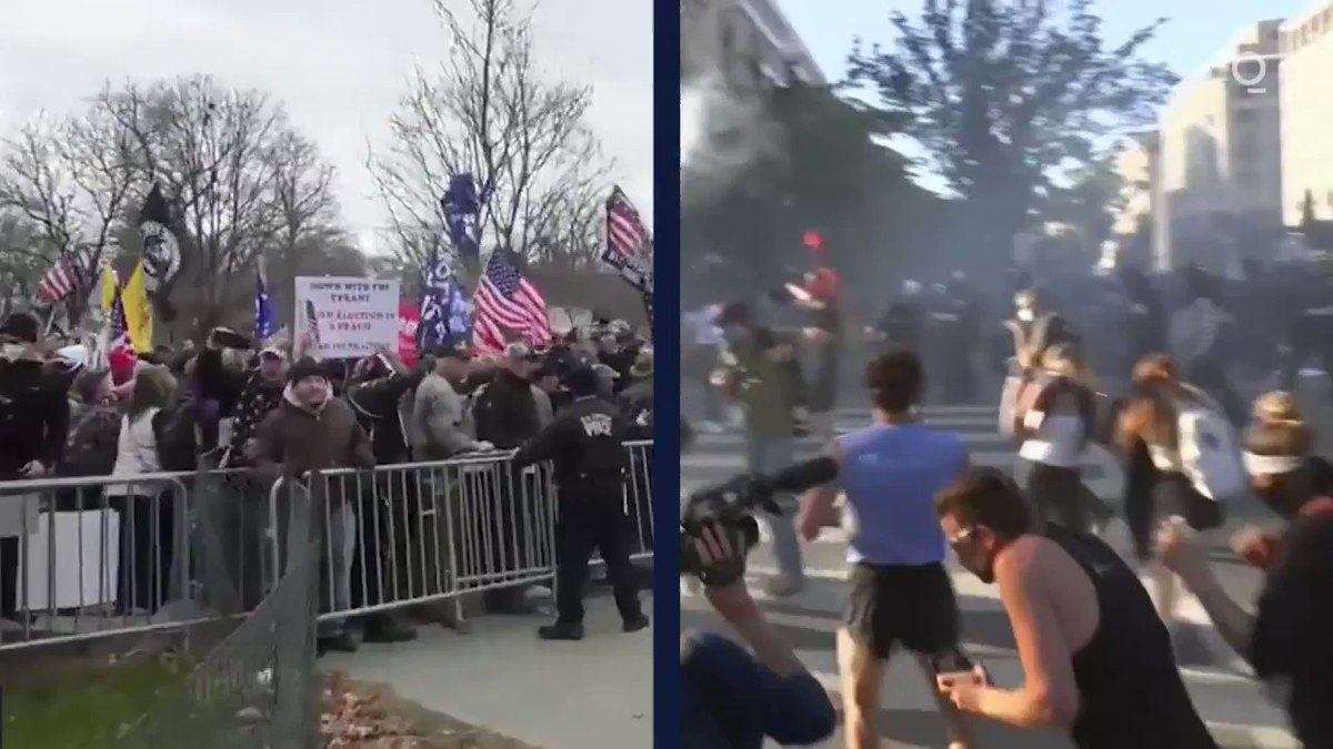 January 6, 2021 vs. June 1, 2020:  Here's a look at how law enforcement responded to Trump supporters on Capitol Hill on Wednesday and #BlackLivesMatter protesters near the White House last year. More: