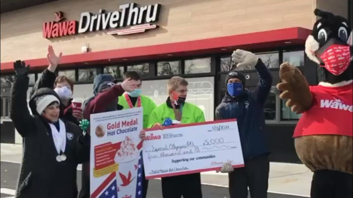 Cheers to the Champions @SpecialOlympiPA ! Now thru 1/15, give back when you drive-thru 🚗 A portion of proceeds from our Gold Medal Hot Chocolate benefits local athletes!