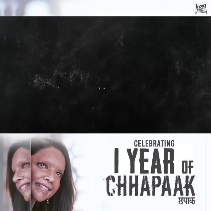 A fight that unfolded years ago. A story which was brought to life a year back. A story of courage and strength! A life of Hope and resilience! A story of Malti! Celebrating #OneYearOfChhapaak @deepikapadukone @masseysahib @meghnagulzar #Gulzaar @atikachohan @ShankarEhsanLoy