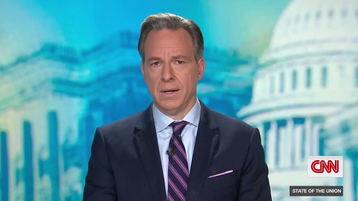 """CNN's @jaketapper on the fallout from the US Capitol siege:  """"The images of this attack are so shocking that many of Trump's enablers are finally... beginning to get the goddamn point that his continuous lies... and winks and nods to violent extremists are dangerous."""" #CNNSOTU"""
