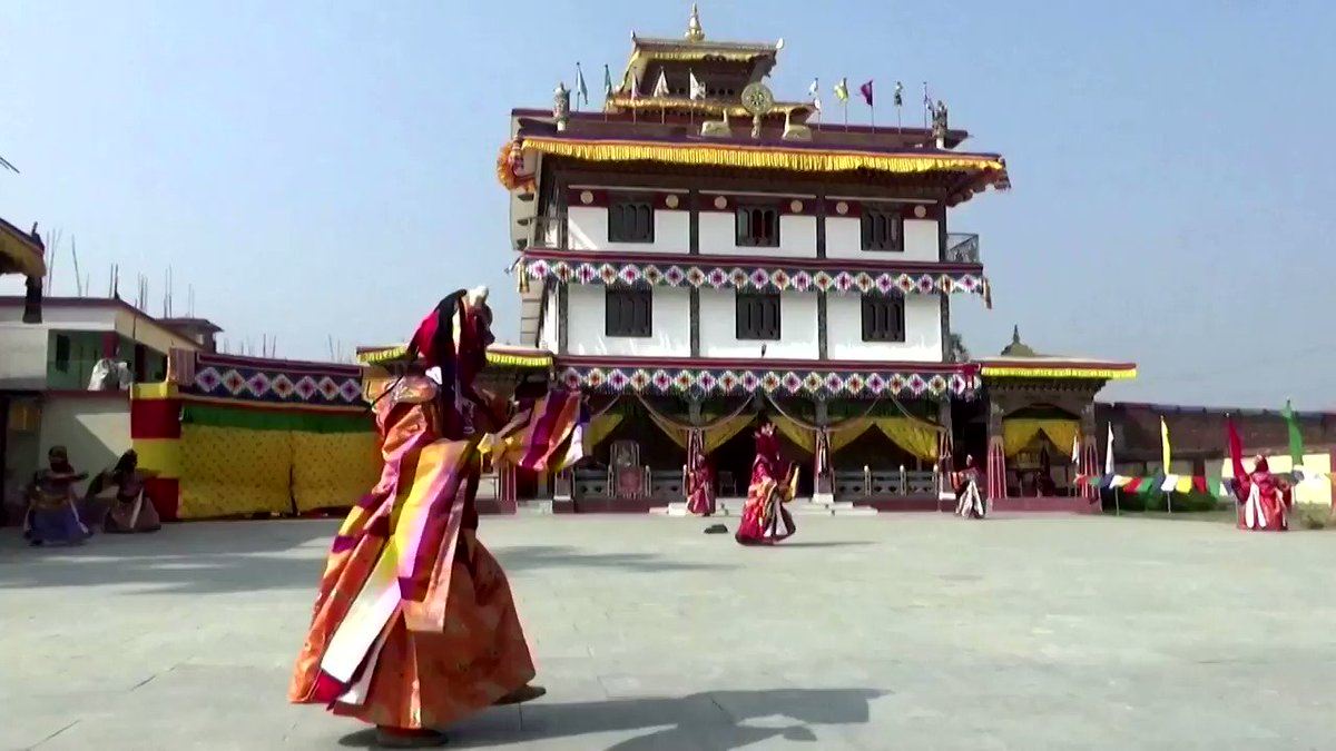 ICYMI: Buddhist monks from Bhutan participate in a traditional cultural masked dance in India's eastern city of Bodh Gaya