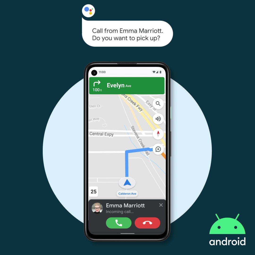 Preview Google Assistant driving mode in Maps on your #Android phone, rolling out now in the U.S. Easily access what you need for your drive and quickly get things done all while keeping your focus on the road. Learn more: