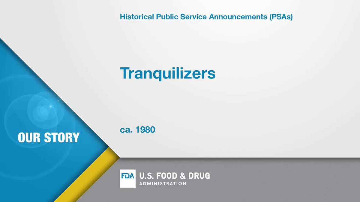 National Pharmacists Day is January 12 so make sure to thank yours for helping keep you healthy. They are on the front lines educating you on how to safely take medicines, like tranquilizers featured in this PSA. #FDAhistory #TuesdayThoughts