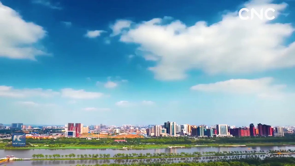 Linfen City in Shanxi Province is striving to build a provincial sub-center and move forward to high-quality development.#ChinaFromAbove