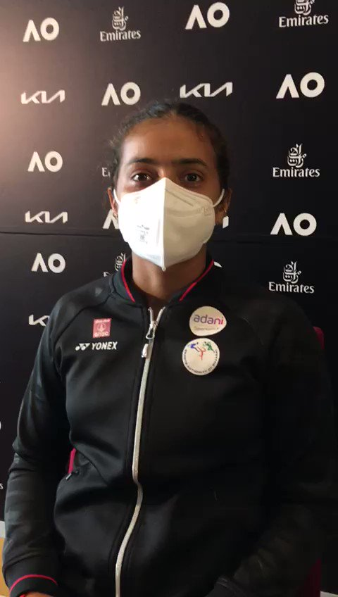 🇮🇳 @ankita_champ 🌟  India's top-ranked women's singles player is one step closer to a Grand Slam main draw debut.  #AusOpen   #AO2021 https://t.co/k7vn8rLQHo