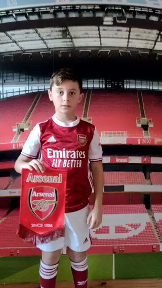 Dexter's a huge Arsenal fan which we're proud to announce is our #ARSNEW virtual mascot!   Find out how your JG could receive a player message, feature in the matchday programme and more at the next Arsenal home game.  ➡️  🔴