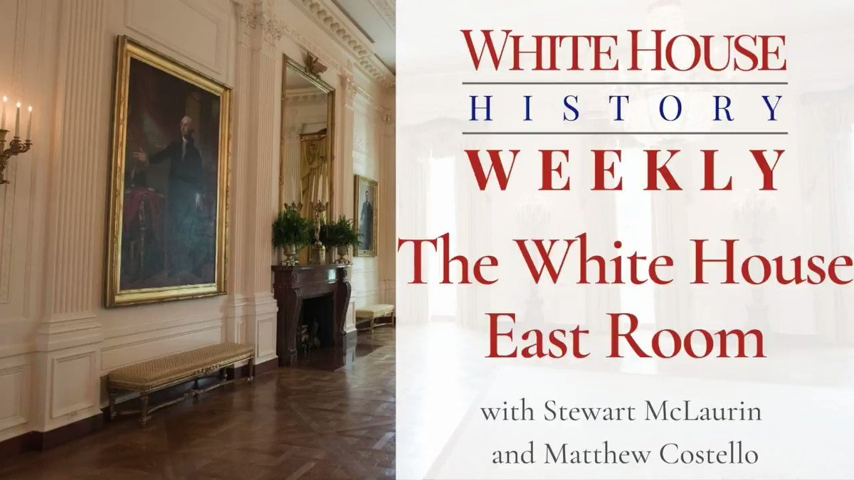 In today's #WhiteHouseHistoryWeekly, we explore the largest room in the White House – the East Room on the State Floor – with @WhiteHouseHstry historian @WHhistorianCost