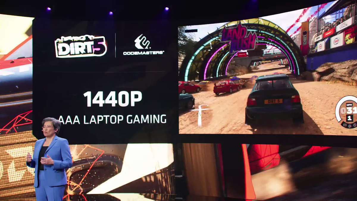 AMD is on track to launch the first notebooks with #RDNA2 in the first half of 2021, and youll see mainstream RDNA 2 desktop graphics card designs in the first half of the year as well. #CES2021